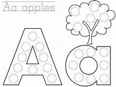 printable dotted letter worksheets 23751 do a dot letter a printable do a dot bingo dauber alphabet coloring pages