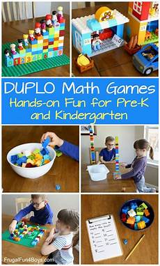 hands on math games with lego duplo frugal fun for boys hands on duplo math games for preschool and kindergarten
