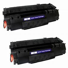 2 pack q5949a 49a toner cartridge compatible for hp