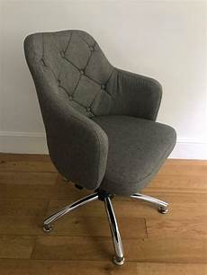 argos home office furniture grey button back office chair argos home in notting
