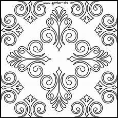 33 Contoh Motif Batik Bunga Dibuku Gambar Hitam Putih
