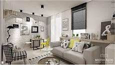 małe mieszkanie w stylu skandynawskim zdjęcie od mothi form salon styl skandynawski