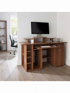 walnut home office furniture walnut home office desk san diego aw12004wal by alphason