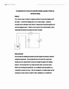 worksheets on measurement 1540 an experiment to measure the specific heat capacity of water a level science marked by