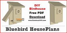 bluebird bird house plans bluebird house plans pdf download construct101