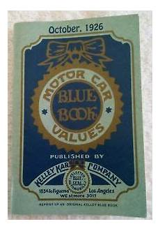 blue book used cars values 1988 ford ltd crown victoria electronic toll collection october 1926 kelley kar company blue book motor car values vintage reference ebay