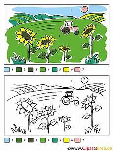 Sonnenblume Malen Nach Zahlen Malvorlage Sonnenblumen Im Feld Ausmalen Nach Zahlen