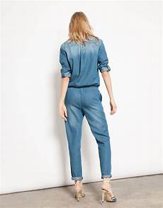 Combinaison En Jean Laureen Denim Blue Reiko