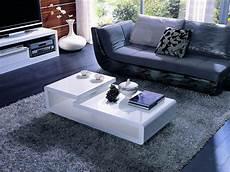 Moderne Couchtische Design - 5011c modern white lacquer rectangular coffee table