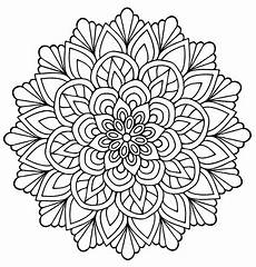 mandala flower with leaves m alas coloring pages