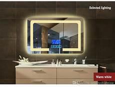 2019 high definition intelligent wall mounted bathroom mirror frameless defogging bathroom