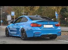 Yas Marina Blue Bmw M4 F82 With Akrapovic Evolution