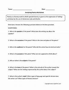 poem worksheets for grade 25549 analyzing poetry worksheets poetry worksheets spelling worksheets