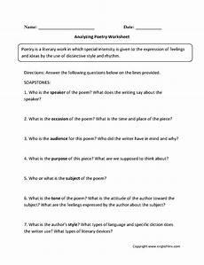 poetry worksheets year 6 25383 analyzing poetry worksheets poetry worksheets analyzing poetry sound devices in poetry
