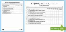 end of ks2 expectations reading assessment tracker end of ks2