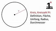 mathematik kreis kreiszahl pi definition fl 228 che umfang