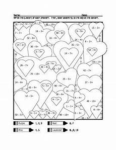 color by number worksheets hearts 16061 s division coloring page