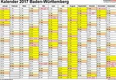 Sommerferien Italien 2017 - vorlage 1 kalender 2017 f 252 r baden w 252 rttemberg als excel