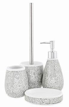 Bathroom Accessories Set Asda asda bathroom range silver sparkle bathroom