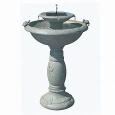 home depot solar fountains smart solar country gardens weathered stone two tier solar demand 34222rm1 the
