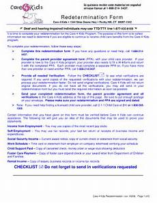 care 4 kids redetermination form fill online printable