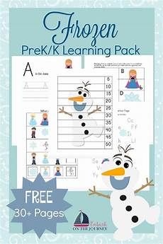 free frozen prek learning printables