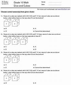 math geometry worksheets grade 10 808 grade 10 dice and cubes worksheets worksheets math worksheets math