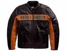 Ebay Harley Davidson Leather Jackets harley davidson s black orange classic leather