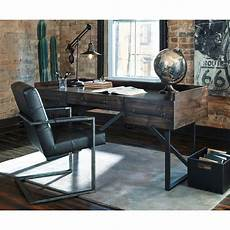 rustic home office furniture signature design by ashley starmore modern rustic