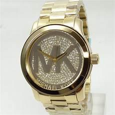 michael kors damenuhr mk5706 gold strass edelstahl armband