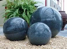 granitkugel poliert anthrazit 30 cm dekokugel gartenkugel