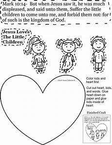 jesus the little children cutout activity sheet for s day sunday school kids