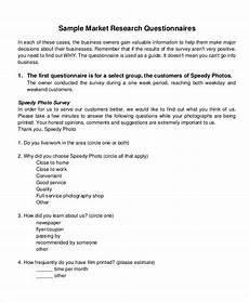 free 6 marketing research questionnaire exles sles in pdf exles