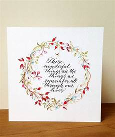 calligraphy card with rosehip wreath by