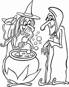 printable witches coloring page for 1