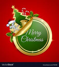 merry christmas sticker royalty free vector image