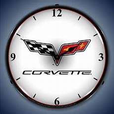 corvette wall clocks corvette led lighted garage wall clock