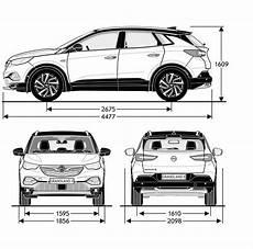 Opel Grandland X 2017 Blueprint Free Blueprint