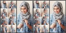 Tutorial Pashmina Tumpuk Cara Memakai Jilbab