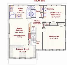 gambrel house plans 2 story passive solar gambrel house plan 16503ar 2nd
