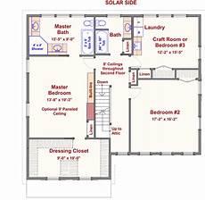 gambrel house plans 2 story passive solar gambrel house plan 16503ar 2nd