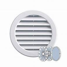 grille ventilation ronde pvc blanc fermeture et