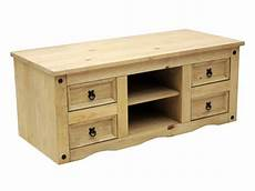 Tv Stand Flat Screen Television Cabinet Solid Mexican Pine