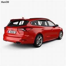 ford focus st line turnier 2018 3d model vehicles on hum3d