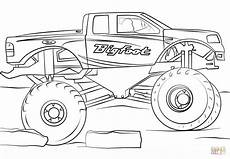 bigfoot truck coloring page free printable