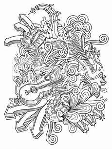 Mandala Malvorlagen Musik Doodles Neat And Detailed Strokes Intact