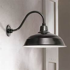 warehouse 10 quot high black gooseneck outdoor wall light 9c417 ls plus