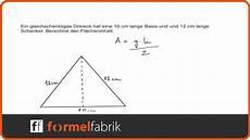 pythagoras fl 228 cheninhalt gleichschenkligem dreieck