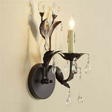 crystal drop sconce 1 light wall sconces by shades of light