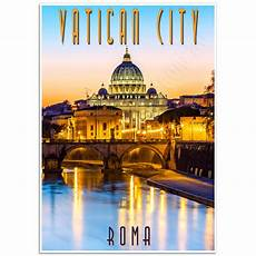 vatican city sunset italian photographic poster just